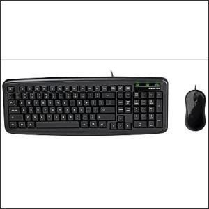 Keyboard Gigabyte KM5300 Compact w/Mouse USB Ultra Durable Black