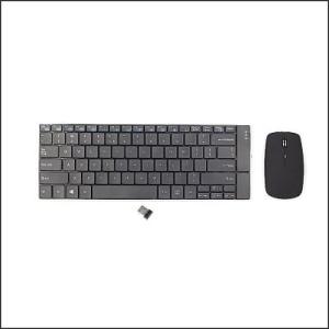 Keyboard KB-P7 Wireless Slim Aluminium w/Mouse Rechargable Black