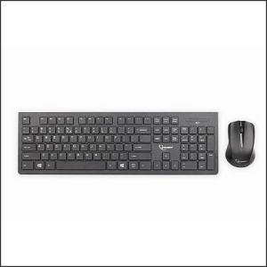 Keyboard KBS-WCH-01 Wireless Multimedia Chocolate + Opt.Mouse