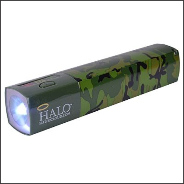 Power Bank Halo for Smartphone and Tablet 3000mAh w/ LED Flashlight Camouflage