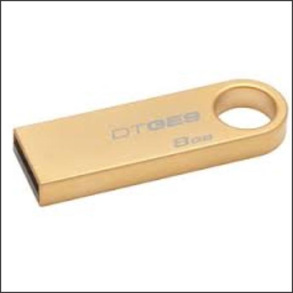 USB Drive 8GB Kingston DataTraveler SE9 Gold